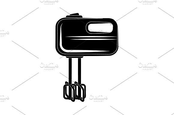 Mixer Icon Vector Black On White