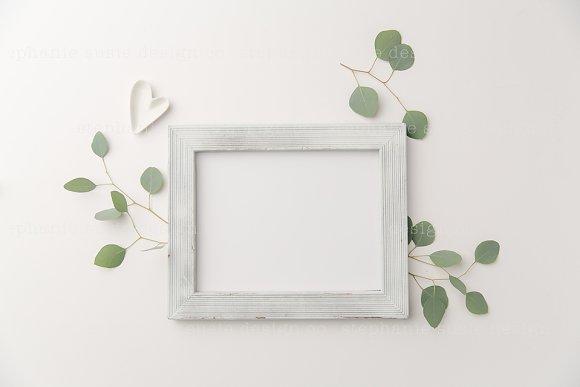White Frame Eucalyptus Mock Up