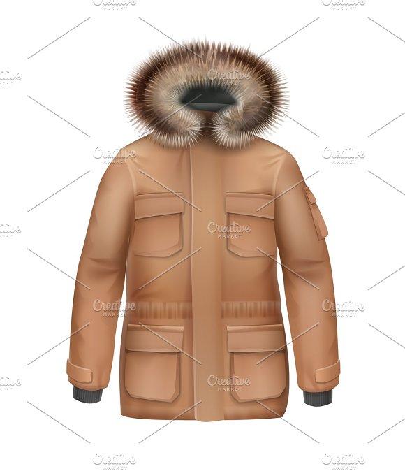 Brown Sport Winter Coat