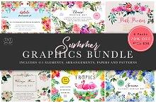 Summer Floral Graphics Bundle