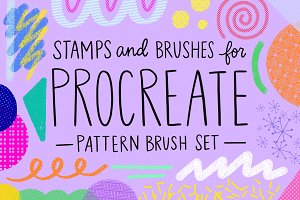 Procreate Pattern Brush Set