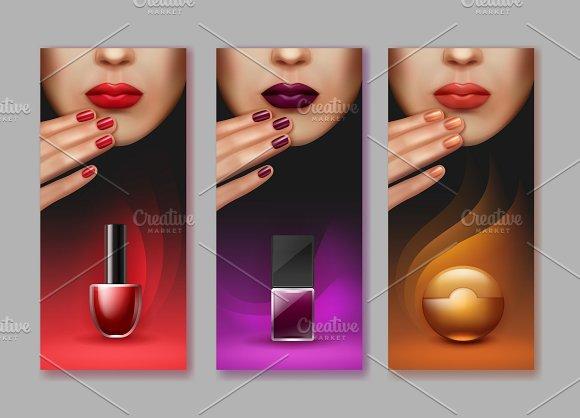 Vector Brochure Of Makeup