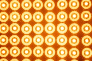 Orange led lines and rows illustration background