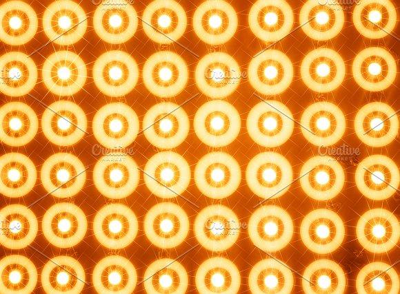 Orange Led Lines And Rows Illustration Background