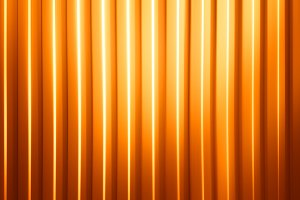 Horizontal orange panels with light leak illustration background