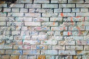 Brick wall on grunge street background