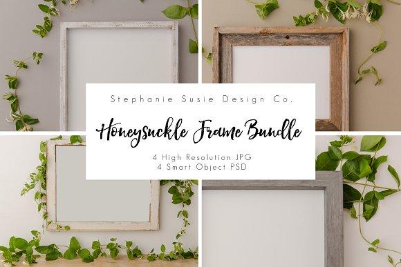 Honeysuckle Frame Mock Up Bundle