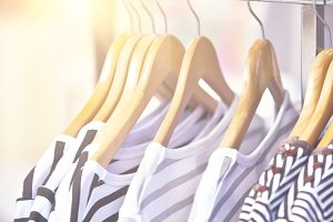 Striped Female Pullovers in a