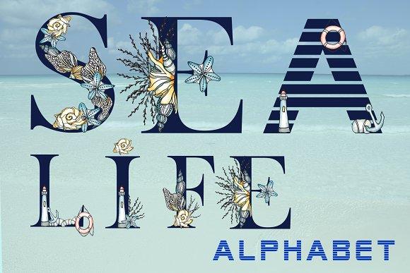Navy Alphabet Sea Watercolor Set