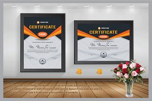 Certificate Print Ready Template.
