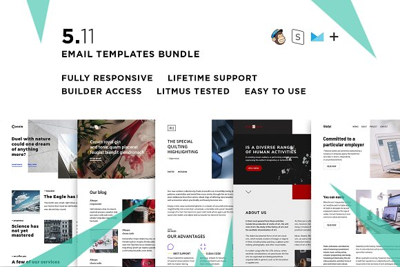 5 Email Templates Bundle XI