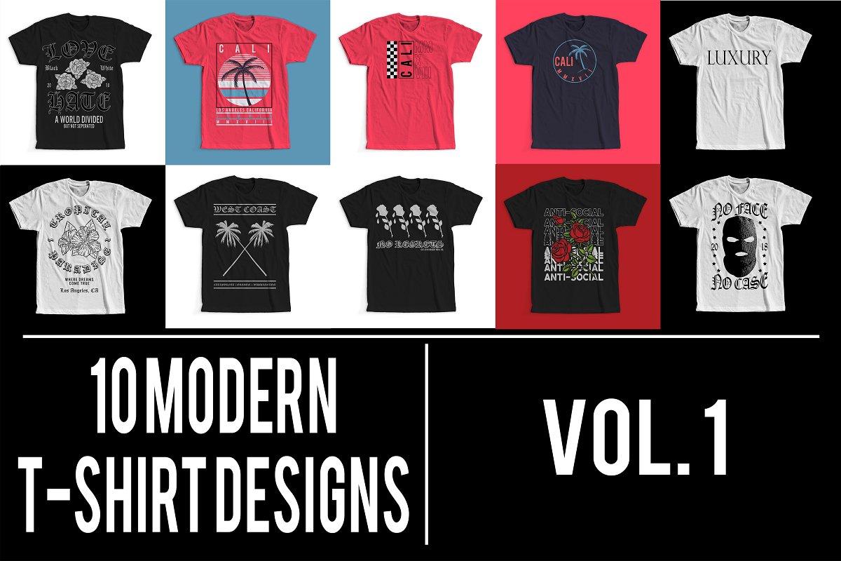 2aa10c01ea1b Modern T-Shirt Designs VOL. 1 ~ Graphics ~ Creative Market