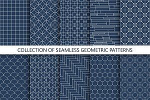Minimal geometric seamless patterns