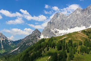 Wall of Mountains in Dachstein
