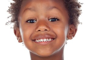 Happy Afro-American child