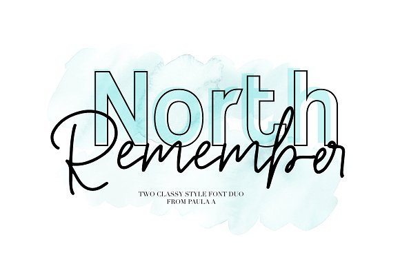 North Remember Font Duo