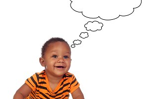 Happy Afro-American child