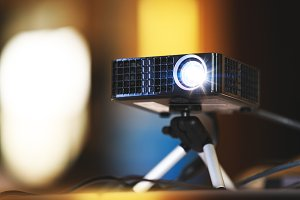 Video projector, business conference