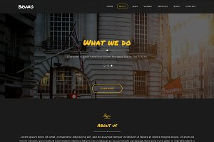 Bruno - One-Page Business Template