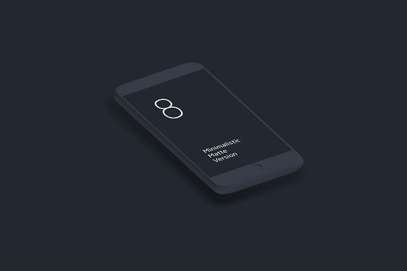 Animation IPhone 8 Matte Mock-up