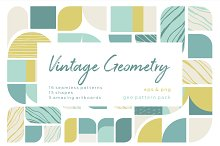 Vintage geometry patterns collection by Lisa Bukreyeva in Patterns