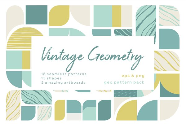 Patterns - Vintage geometry patterns collection