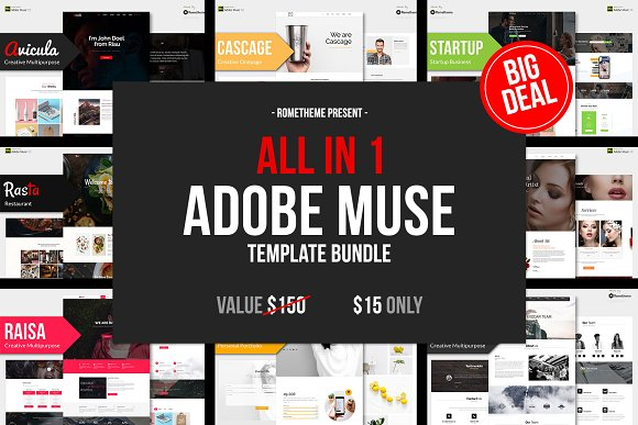 All In 1 ADOBE MUSE BUNDLE