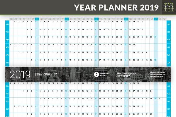 Year Planner 2019 (YP025-19)