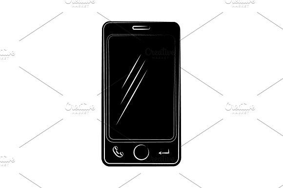 Smartphone Icon Vector Black