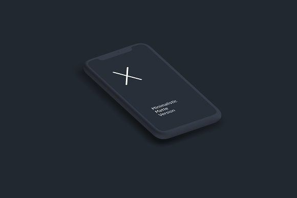 Animation IPhone X Matte Mock-up