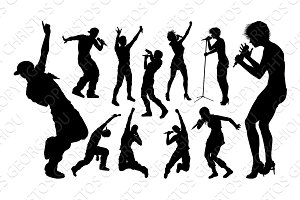 Singers Pop Country Rock Hiphop Star Silhouettes