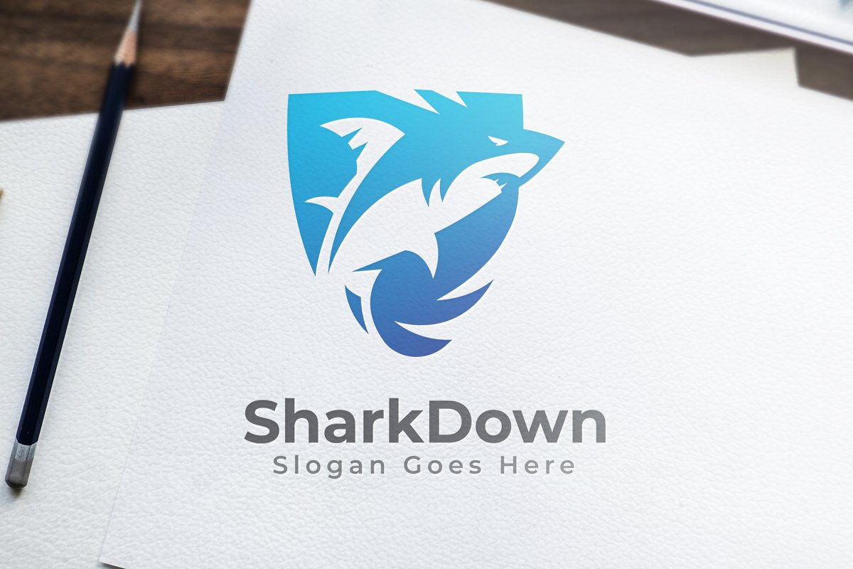 Shark Logo in Logo Templates - product preview 8