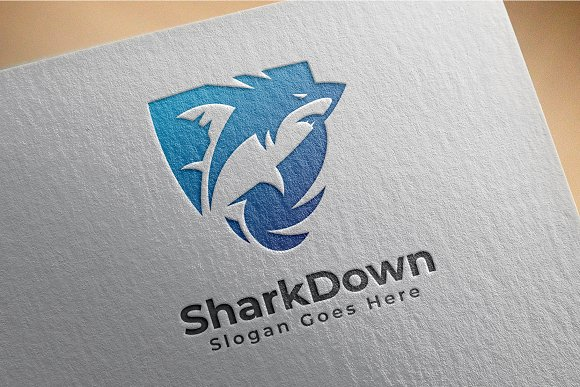 Shark Logo in Logo Templates - product preview 4