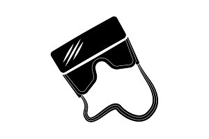 Virtual reality glasses icon black