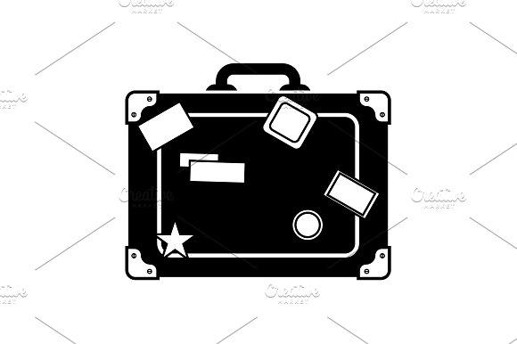 Travel Bag Icon Suitcase Icon Black