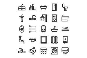 Plumbing icon set.