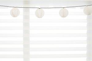 Stock photo - white lanterns