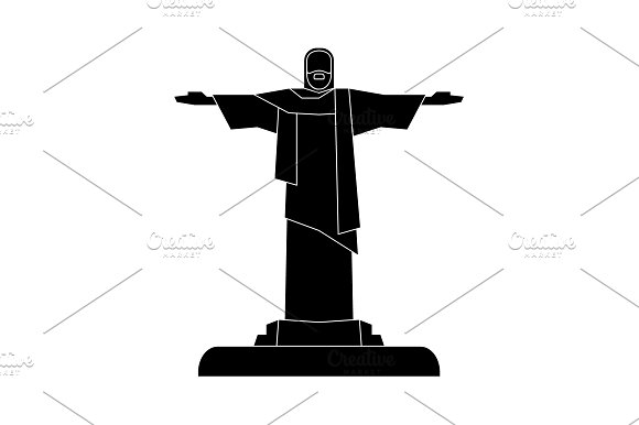 Statue Of Christ The Redeemer Icon