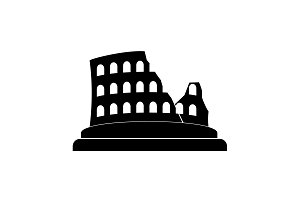 Coliseum icon, Colosseum icon black