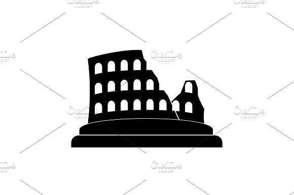 Coliseum Icon Colosseum Icon Black