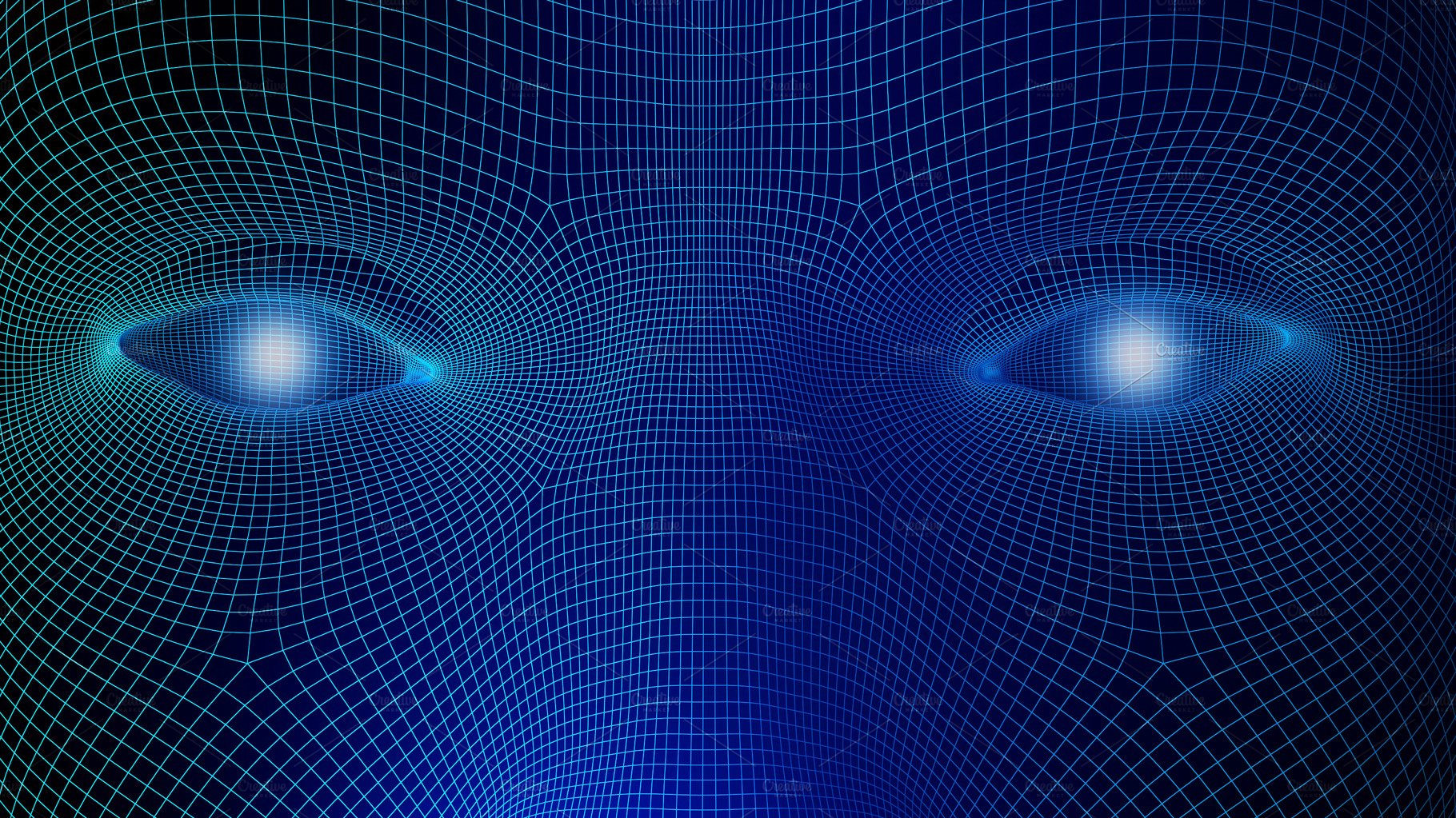 Human Eyes On Blue Background In Technology Concept Wireframe Of Abstract Globe Circuit Board And Binary Code Artificial Intelligence 3d Illustration Illustrations Creative Market