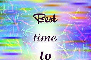 Best time to travel poster