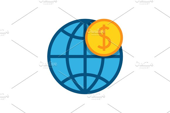 Globe With Dollar Icon
