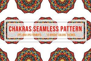 Chakras Seamless Pattern