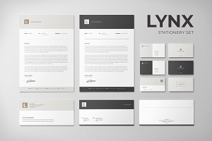 Lynx Stationery Set