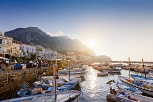 Sunset in Capri, Italy
