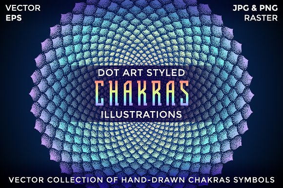 CHAKRAS Hand-drawn Vector Collection