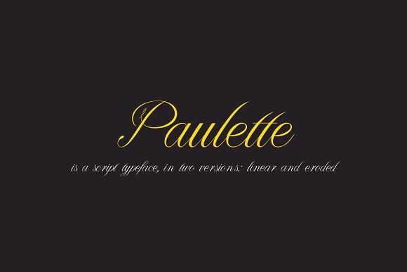 Paulette Script Typeface
