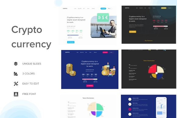 Crypto Digital Currency Template