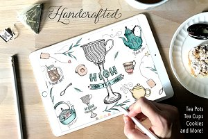Whimsical High Tea Illustration Pack